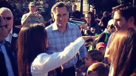 "Mitt Romney in ""seclusion"" at the Happiest Place On Earth."