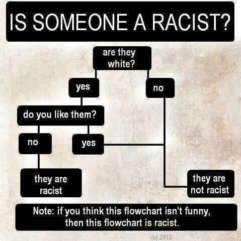racist flow chart