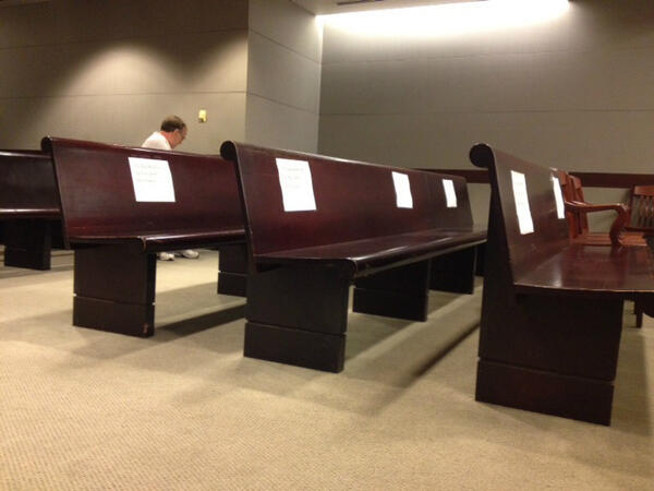 Reserved for media section at the Gosnell trial