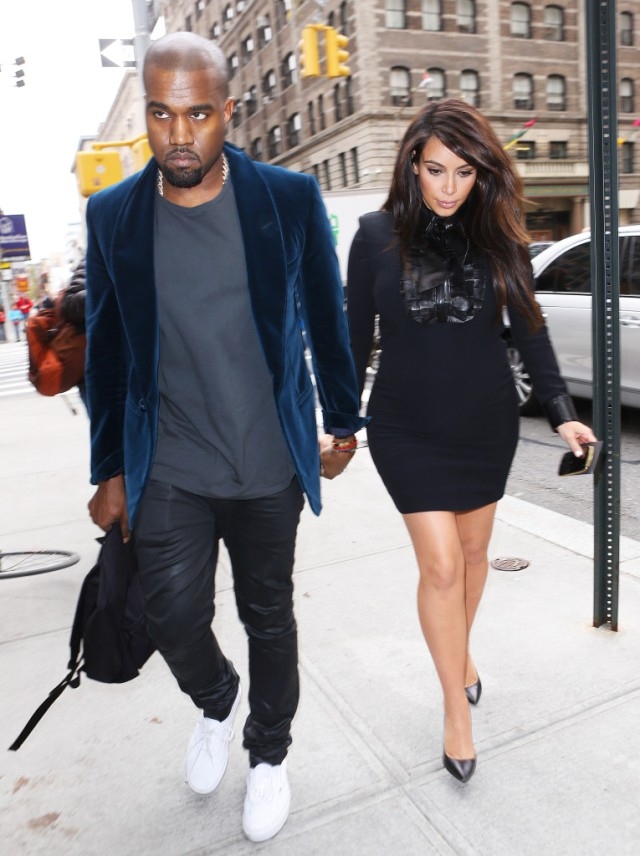 Kim Kardashian and Kanye West head back to their hotel in NYC
