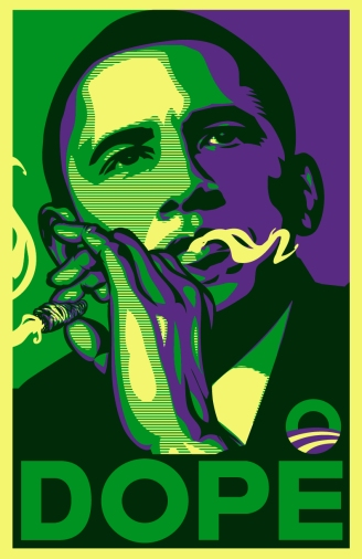 04012 Obama Dope - Smoking