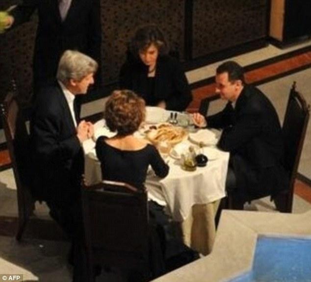 Senator Kerry and Teresa Heinz-Kerry  dine with Adolf Hitler and Eva Braun in 2009