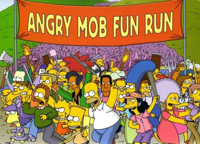 angry mob fun run
