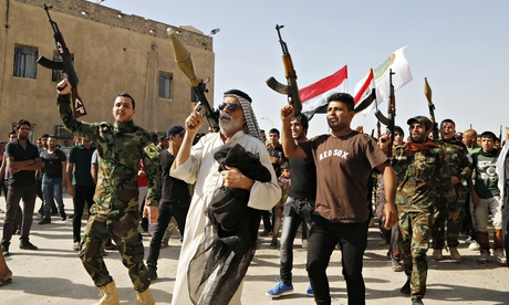 Sunni militants cheer for Iraq's World Cup team.