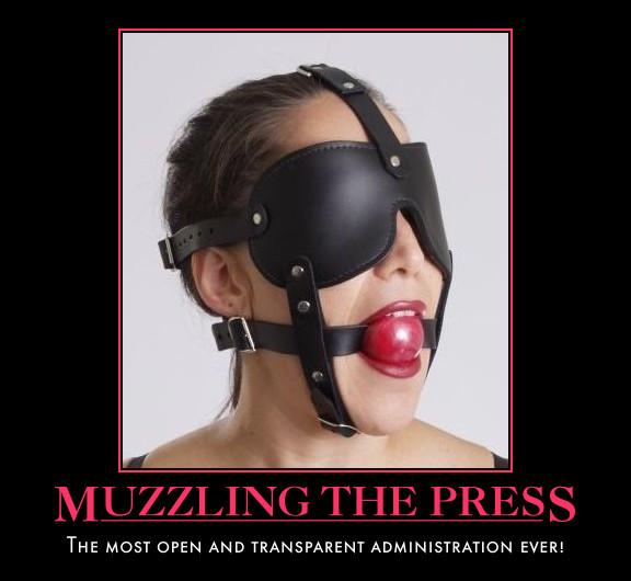 muzzle the press