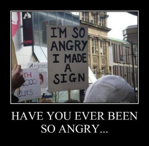 I made a sign