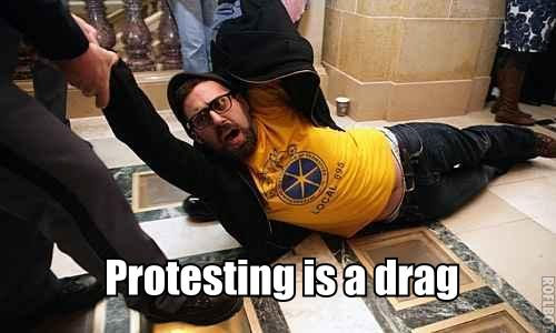protesting is a drag