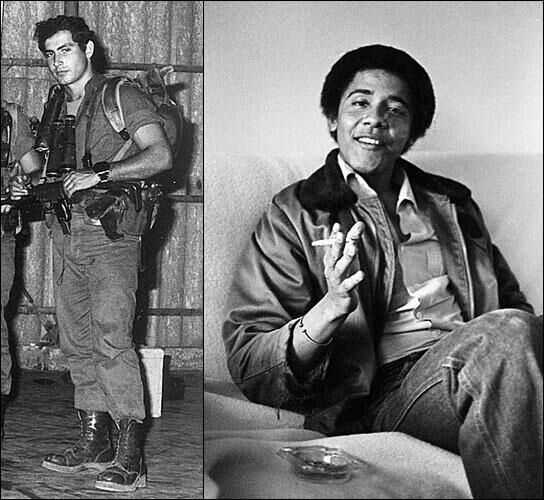 Bibi and Barry as young men