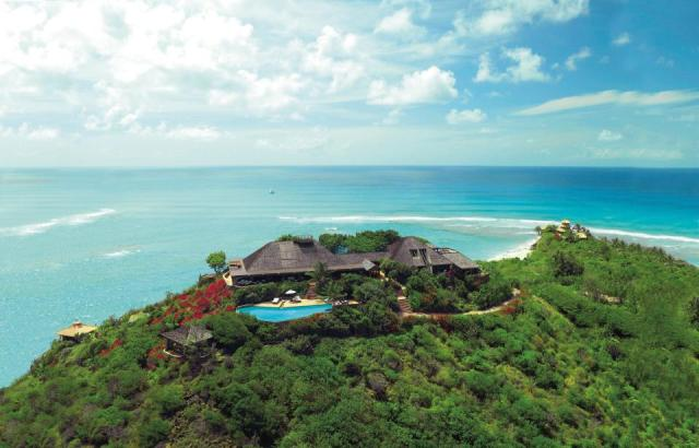Branson's luxury villa on Necker Island